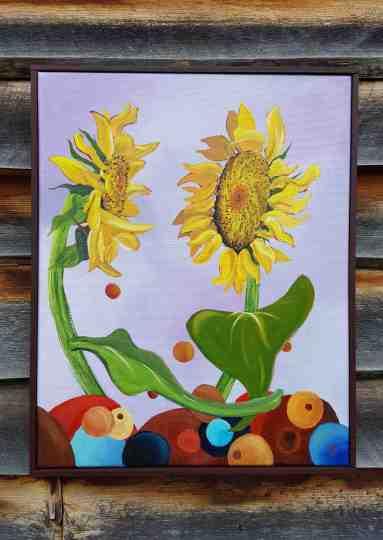 Playful sunflowers