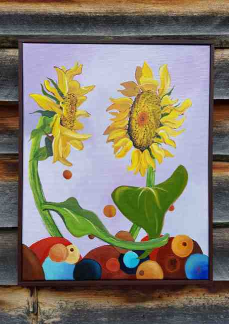 Playful sunflowers